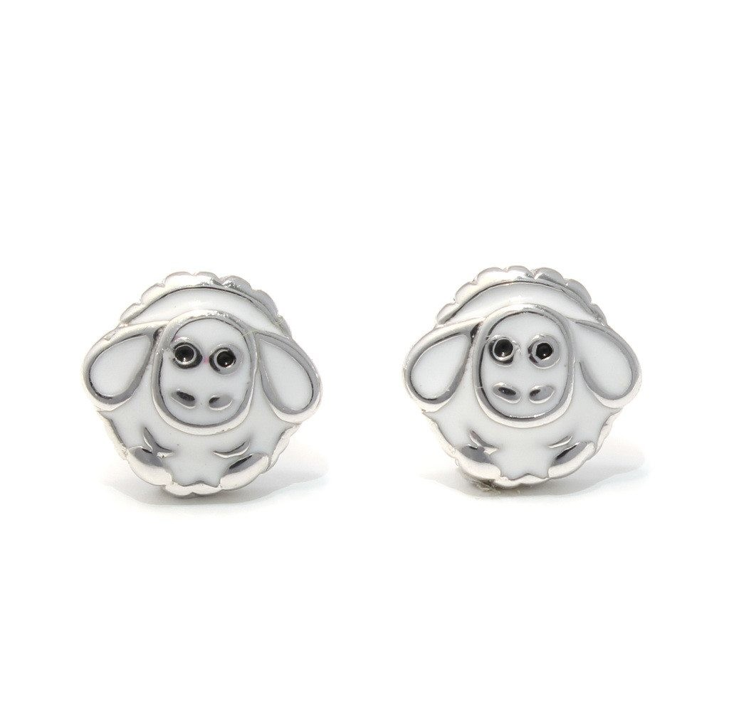 Ohrstecker Ohrring Schäfchen Schaf aus Sterling Silber 925