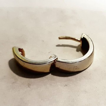 Nano Vergoldung Silber Creolen